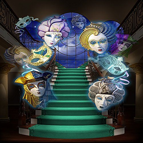 venetian masquerade with staircase backdrop ft new orleans with an eery mardi gras feel - New Orleans Halloween Parties