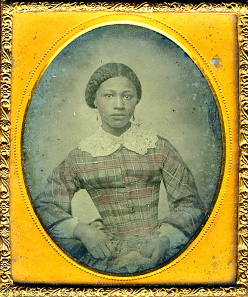 thecivilwarparlor:    Unidentified African American Woman c. Mid-nineteenth century  It is unclear whether this well-dressed, unidentified woman is free or enslaved. What is clear is that her status as an African American woman was significantly altered by the outcome of the American Civil War. Two years of fighting had transformed Union war aims, and by 1863, the North no longer fought only to save the Union but also to end slavery.