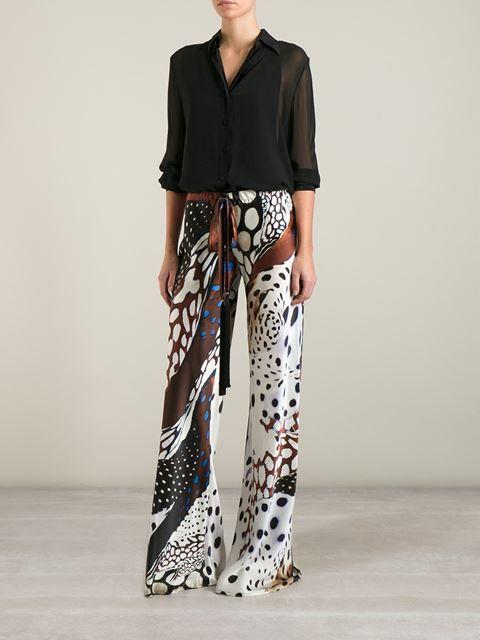 Roberto Cavalli Animal Print Trousers