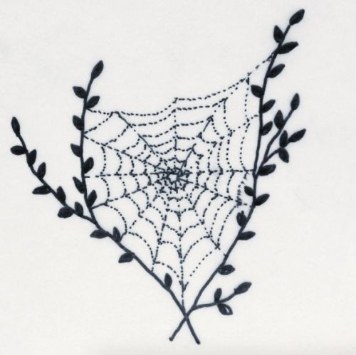 make yr mom sad- handpoked tattoos. love this spider web