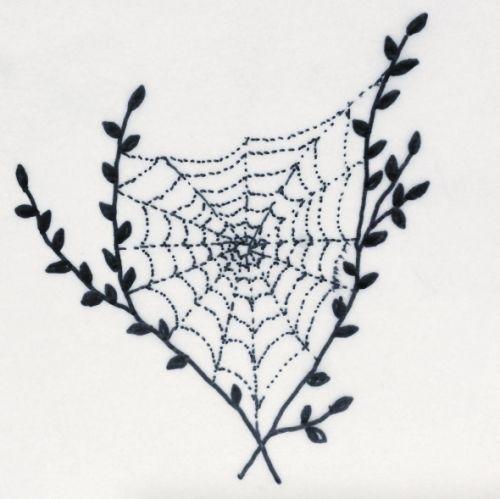 make yr mom sad- handpoked tattoos. love this spider web
