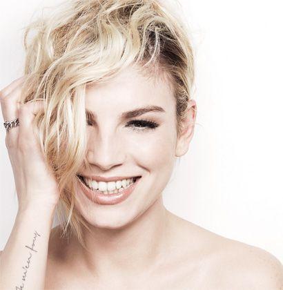 Emma Marrone  #blonde #hair #tattoo