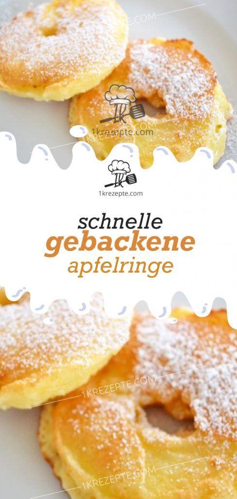 Schnelle Bratapfelringe   – Backideen