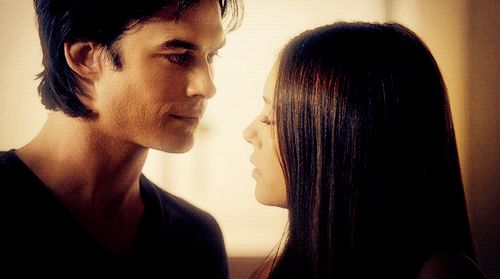 Pin for Later: 33 Delena GIFs That Prove Their Love Will Endure Forever When he does that little Damon smile at her.