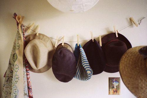 Decoración con sombreros