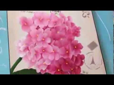 Como pintar hortensias . Herminia Devoto con Mabel Blanco, My Crafts and DIY Projects