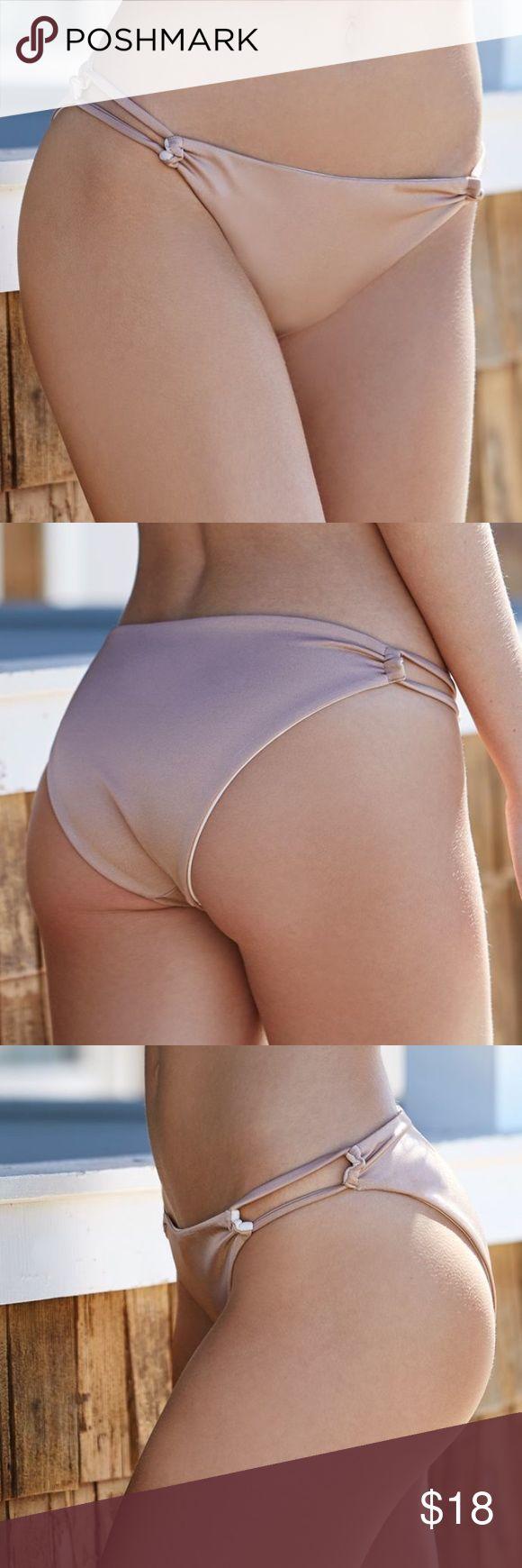 Reversible Shine Loop Side Bikini Bottom Reversible bikini bottoms in 2 gold colors. Never worn but no tags from Pacsun LA Hearts Swim Bikinis