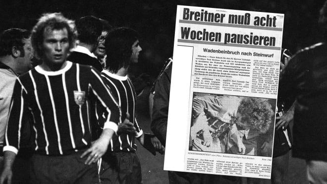 """Rückblick in die 70er Jahre: Schon in den 70er Jahren liefen Franz Beckenbauer, Gerd Müller, Uli Hoeneß und Co. im sogenannten Nadelstreifentrikot auf. Das rot-weiß gestreifte Leiberl, das die Bayern am Donnerstag in einer Hommag an die """"goldenen 70er"""" als neues Heimtrikot vorstellten, steht für eine der erfolgreichsten Phasen in der Geschichte des deutschen Rekordmeisters. fcbayern.com blättert im Fotoalbum."""