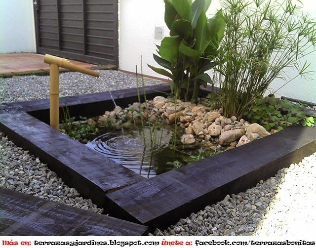 Las 25 mejores ideas sobre peque os estanques en for Pileta jardin pequeno