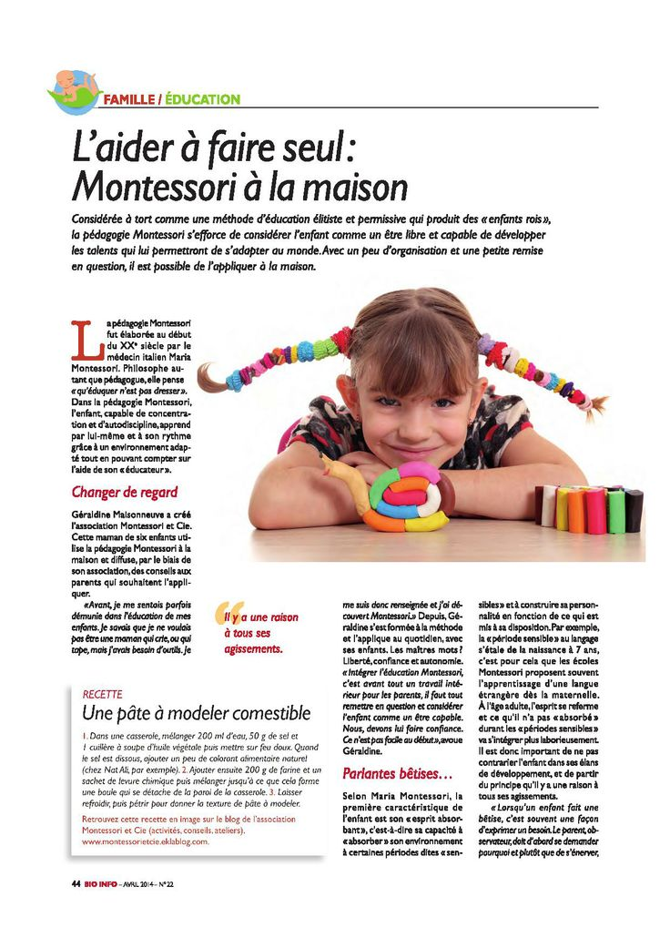 Montessori à la maison