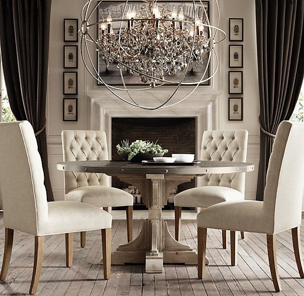 17 best ideas about trestle dining tables on pinterest diy dining table dinning room tables - Dining room table chandeliers ...