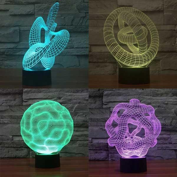 Abstract Color Changing Lamp 3d Led Lamp Led Lamp Design