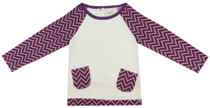 Purple Chevron Pocket Organic T-Shirt