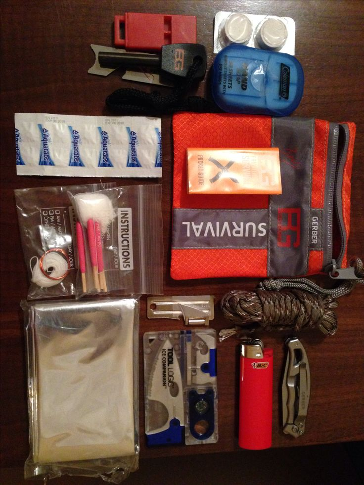 Gerber Bear Grylls modified survival kit!