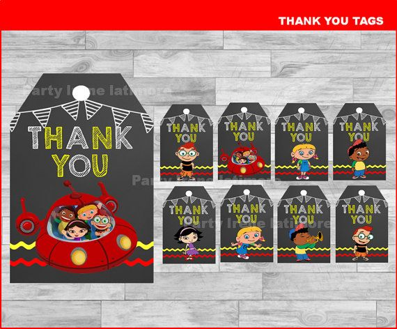 Little Einsteins Thank you Tags Instant download Little