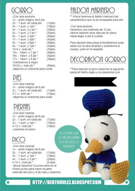 http://bertorulez.blogspot.com.es/2015/06/patron-gratuito-baby-donald-duck.html
