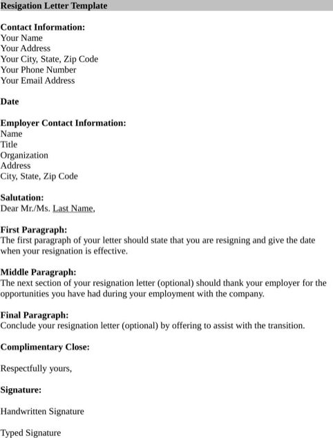10 Best ideas about Format For Resignation Letter – Template for Resignation Letter for Word