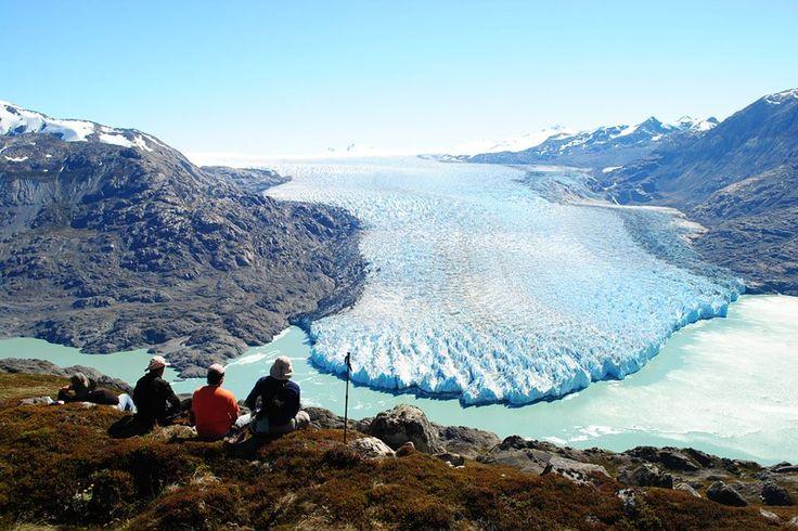 Glaciar de Carretera Austral, Sur de Chile.