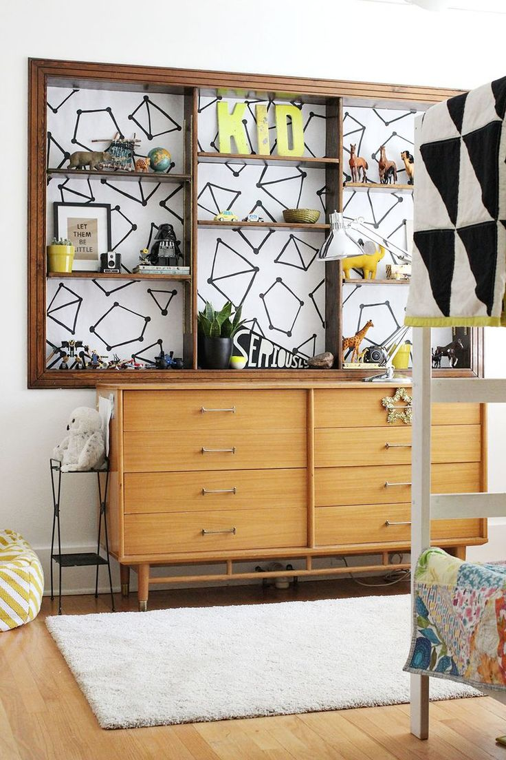 washi tape bookshelf lining design your own - Design Your Own Bedroom For Kids