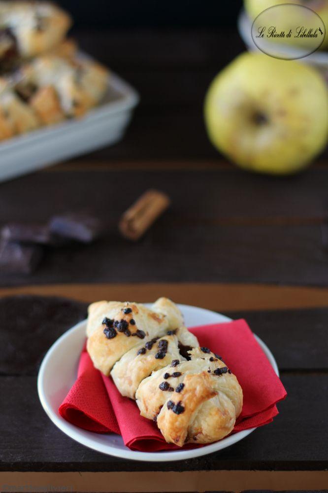 sfogliatine alla mela e cioccolato