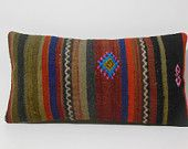 multi color lumbar pillow aztec throw pillows for sofa knitted bohemian bedding hand crafted large cushion covers long outdoor seat cushions