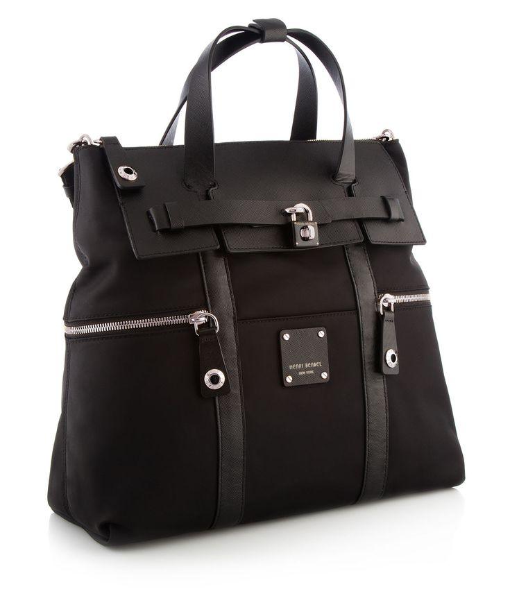 Jetsetter Black Convertible Backpack - Backpacks | Henri Bendel