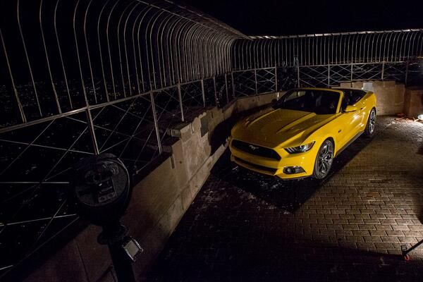 Ford Mustang on top of Empire State Building | Chris Cantle ‏@ChrisCantle