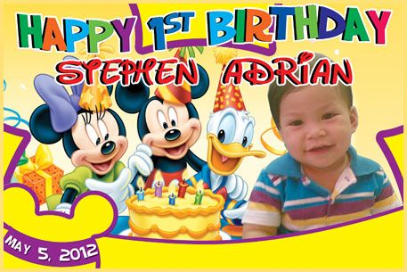 Birthday Tarpaulin Mickey Mouse Theme Template (PSD) « Pao Graphics: Birthday Tarpaulin