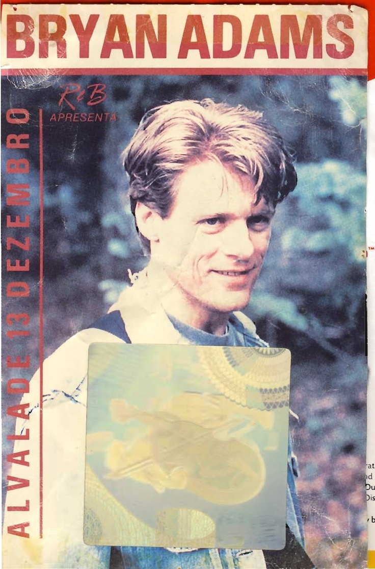 """Concerto: Bryan Adams """"Waking Up the Neighbours Tour"""". 1991-12-13 ."""