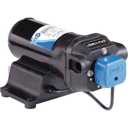 Jabsco 42755-0092 12V Vflo 5.0 GPM 40 PSI Water Pressure Pump, Beige
