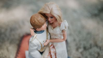 Sisters hire their photographer mum for Barbie wedding photo shoot With brilliant results