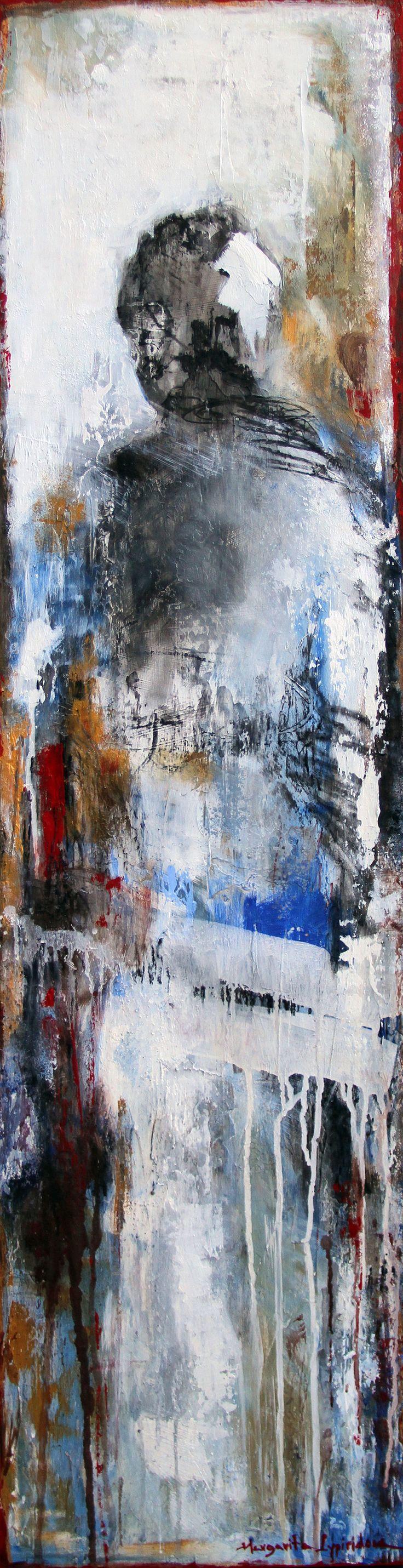 D'origine grecque, Margarita Lypiridou peint des personnages aux identités anonymes qui évoluent dans des paysage soit urbains, soit marin.