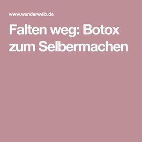 Falten weg: Botox zum Selbermachen