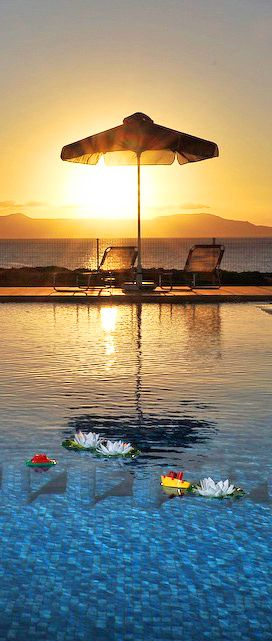 Sunset from Stavros in Chania- Cretan View