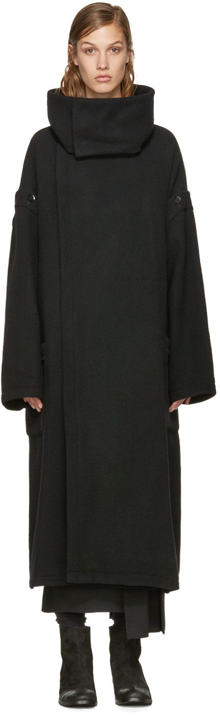 Yohji Yamamoto - Black Oversized Coat                                                                                                                                                                                 More