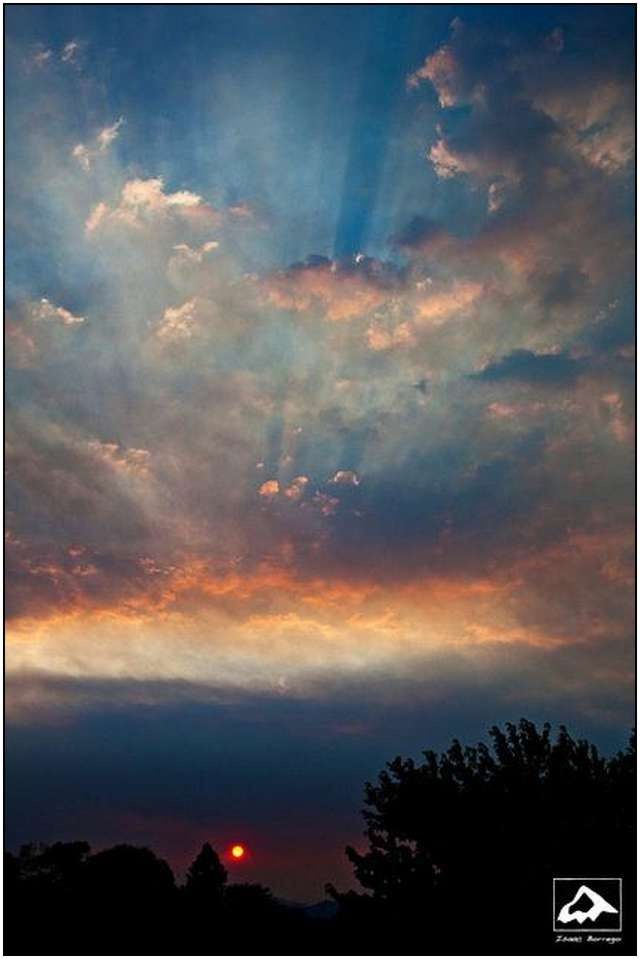 Rays of Hope - Las Conchas Fire Sunset, New Mexico