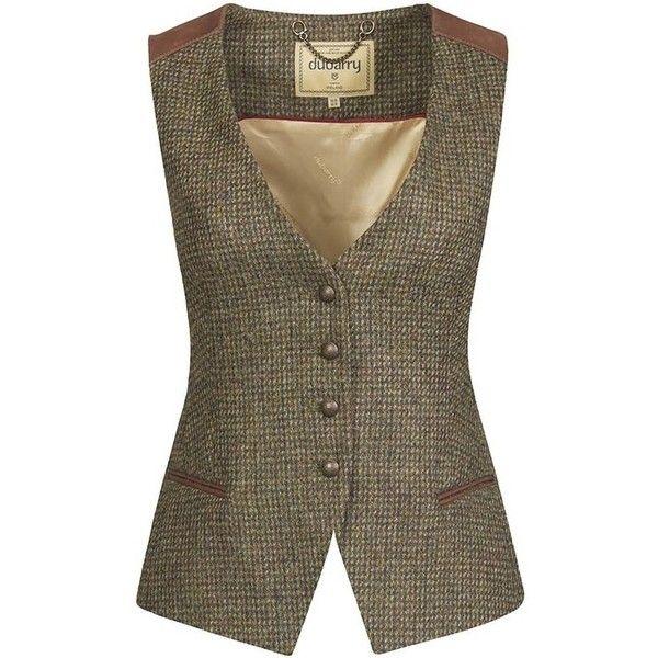 Women's Dubarry Daisy Tweed Waistcoat ($255) ❤ liked on Polyvore featuring outerwear, vests, waistcoat vest, brown vest, brown waistcoat, beaded vest and brown tweed waistcoat