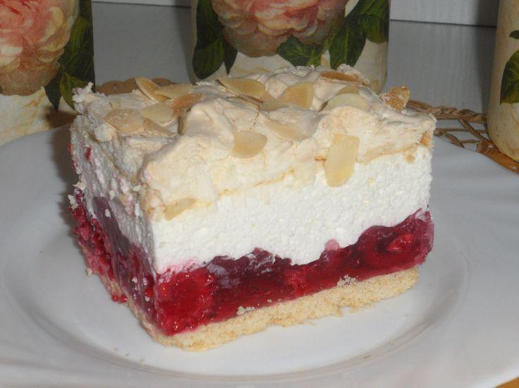 Orzeźwiające ciasto dla smakoszy malin, w sam raz na letnie dni.