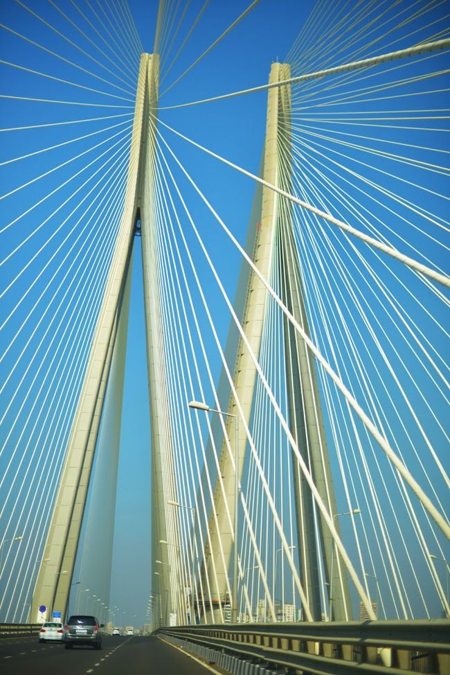 The Bandra-Worli Sea link. One of the best examples of new good architecture in the city...