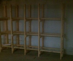 Build easy cheap storage shelves for 18 gallon plastic storage bins