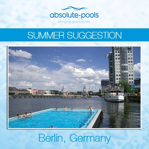 The Badeschiff swimming pool opened in 2004 to give Berlin's citizens a sanitary swimming environment near the Spree River, which is much too polluted to take a dip in. It is created from a recycled river cargo container and stays afloat on the river Spree.  #absolutepools #swimmingpools #Dubai #UAE #poolservices #poolmaintainance #MyDubai #Berlin