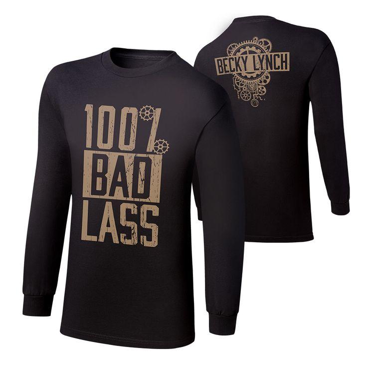 "Becky Lynch ""100% Bad Lass"" Long Sleeve T-Shirt - WWE US"