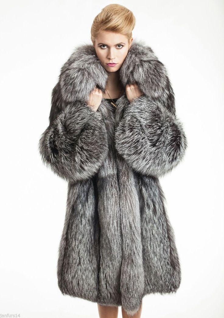 Silver FOX FUR Coat Silberfuchs Pelz Mantel Zobel Vest Nerz Mink ШУБА ЛИСА LIS | eBay
