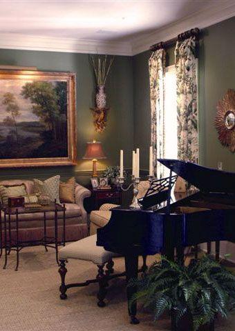 Highgrove living room in highgrove robert kime for Royal interior living room