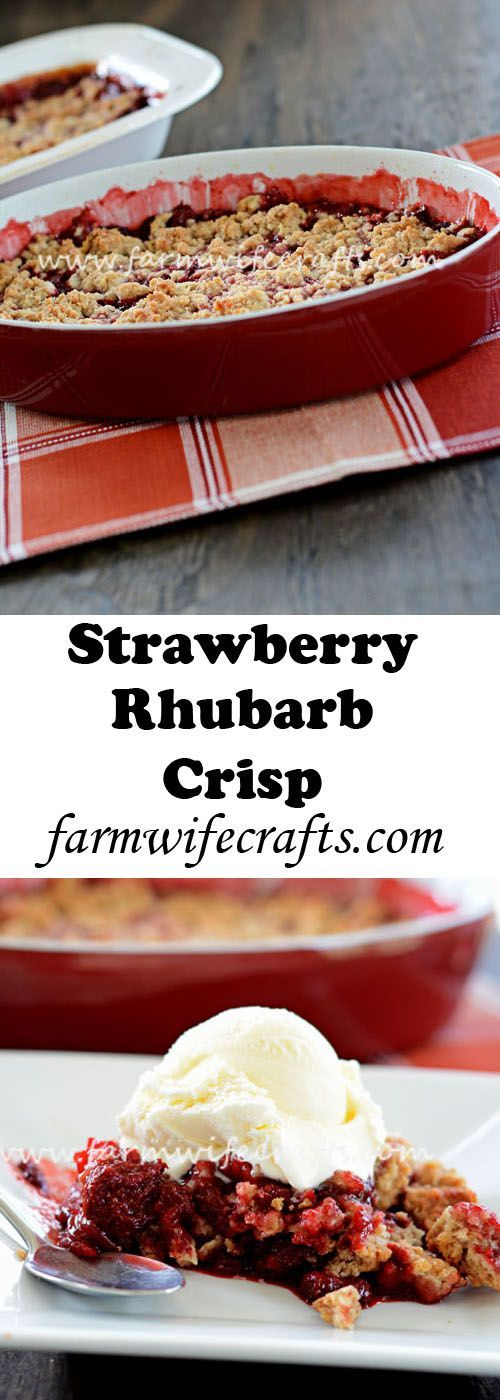 Strawberry and rhubarb are the tastes of summer! This strawberry-rhubarb crisp is the perfect summer dessert...and it's so easy to make.