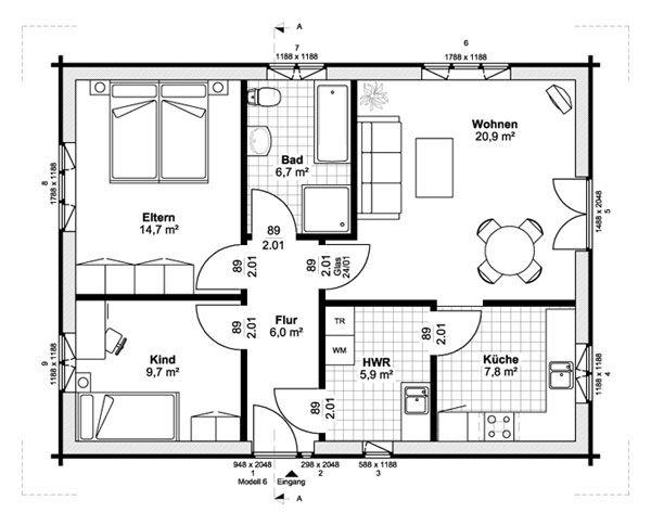 13 besten grundriss bilder auf pinterest kleine h user. Black Bedroom Furniture Sets. Home Design Ideas