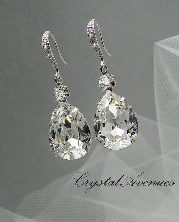 Bridal Earrings Crystal Bridal Earrings Wedding Bridal Jewelry Bridesmaids Lilliana Crystal Drop Bridal Earrings Crystal Bridal Earrings Crystal Earrings Wedding Bridal Earrings