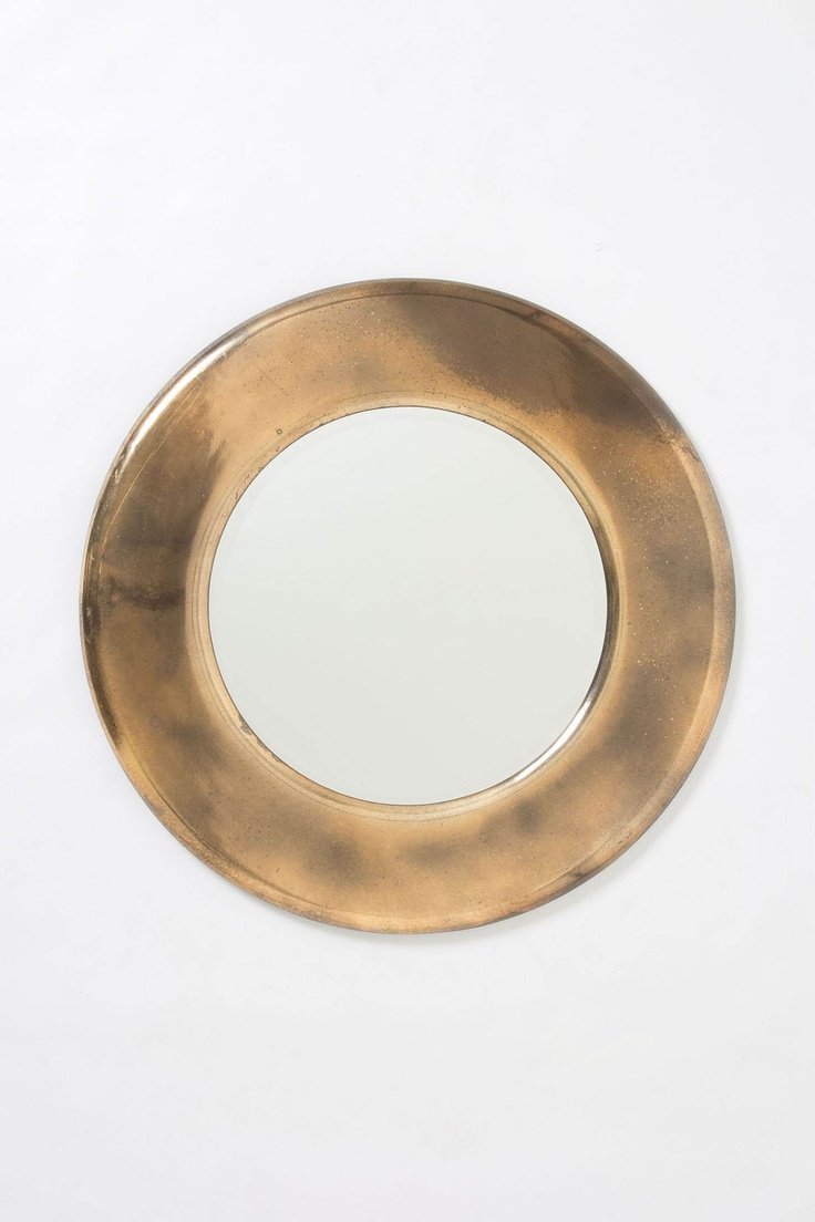 Antiqued Round Mirror - Anthropologie.com: Design Inspiration, Round Mirrors, Coolest Mirrors, Antiqued Round, Decor Items, Fairmount Ii, Clubhouse Ideas