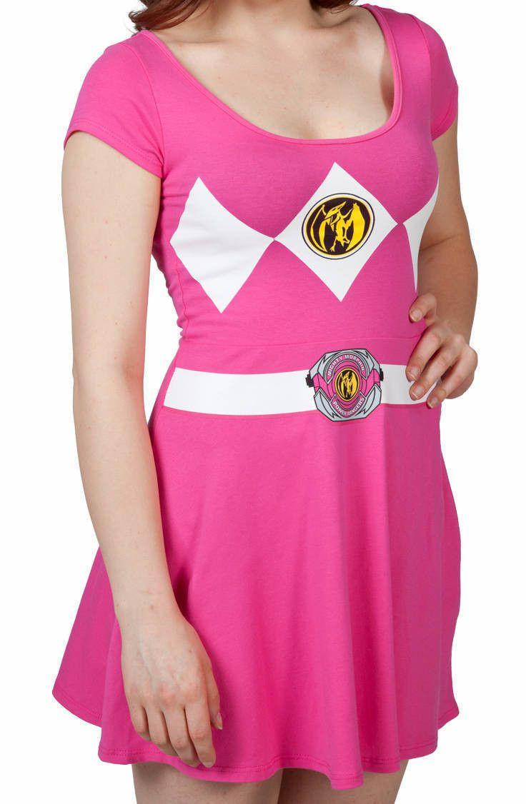 Pink Power Ranger Skater Dress  $38.00 (90 day money back)