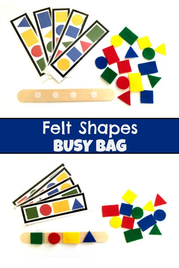 Felt Shapes Busy Bag #busybags #toddler #preschool #preschoolers #prek #shapes #felt #affiliate